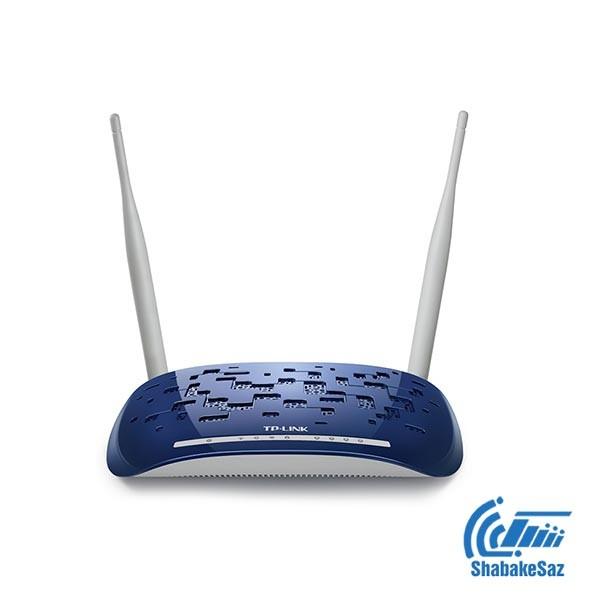 مودم روتر +ADSL2 بی سیم N300 تی پی-لینک مدل TD-W8960N