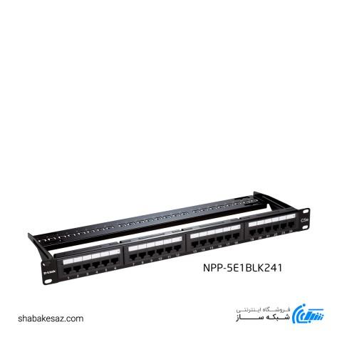 پچ پنل24 پورت UTP دی لینک مدل NPP-5E1BLK241