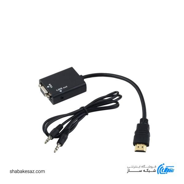 مبدل HDMI to VGA+Sound PS4 کی نت مدل HD-Conversion