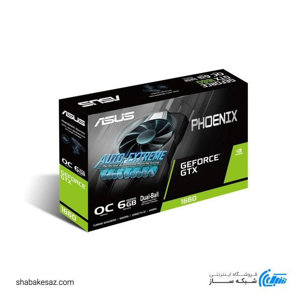 کارت گرافیک ایسوس مدل PH GTX1660-O6G Phoenix