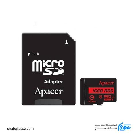 کارت حافظه اپیسر کلاس 10 استاندارد UHS-I U1 همراه با آداپتور SD ظرفیت 16 گیگابایت