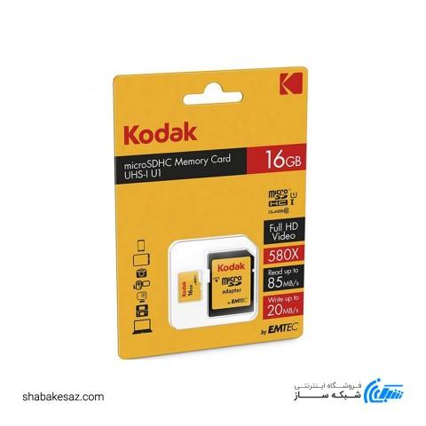 کارت حافظه امتک کداک کلاس 10 استاندارد UHS-I U1 همراه با آداپتور ظرفیت 16 گیگابایت