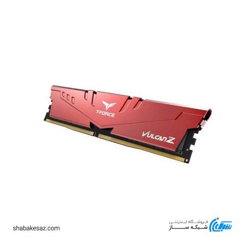 رم کامپیوتر DDR4 تک کاناله تیم گروپ مدل VULCAN Z ظرفیت 16 گیگابایت