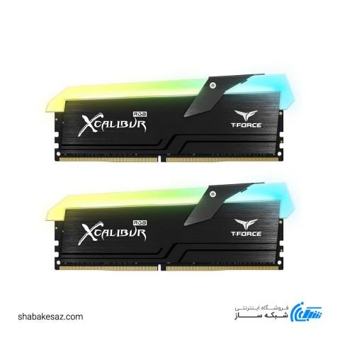 رم دسکتاپ DDR4 دو کاناله تیم گروپ 3600 مگاهرتز 16 گیگابایت مدل XCALIBUR RGB