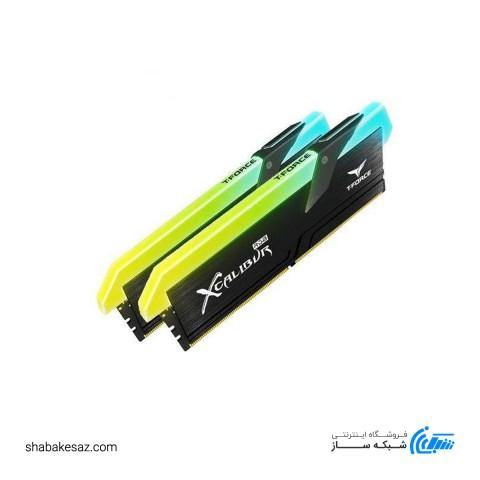 رم دسکتاپ DDR4 دو کاناله تیم گروپ مدل XCALIBUR RGB