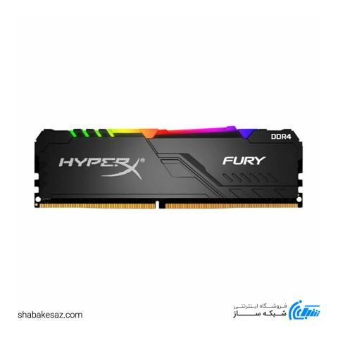 رم کینگستون HyperX FURY RGB 8GB 3200MHz CL16