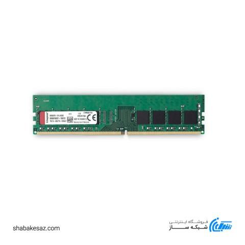 رم دسکتاپ DDR4 تک کاناله 2400 مگاهرتز CL17 کینگستون مدل KVR24N17S6 ظرفیت 4 گیگابایت