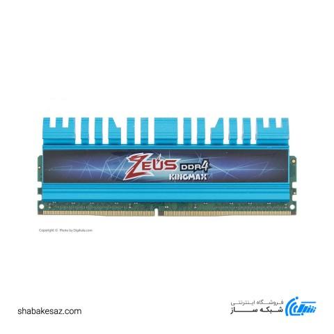 رم دسکتاپ DDR4 تک کاناله 3000 مگاهرتز CL16 کینگ مکس مدل Zeus ظرفیت 16 گیگابایت